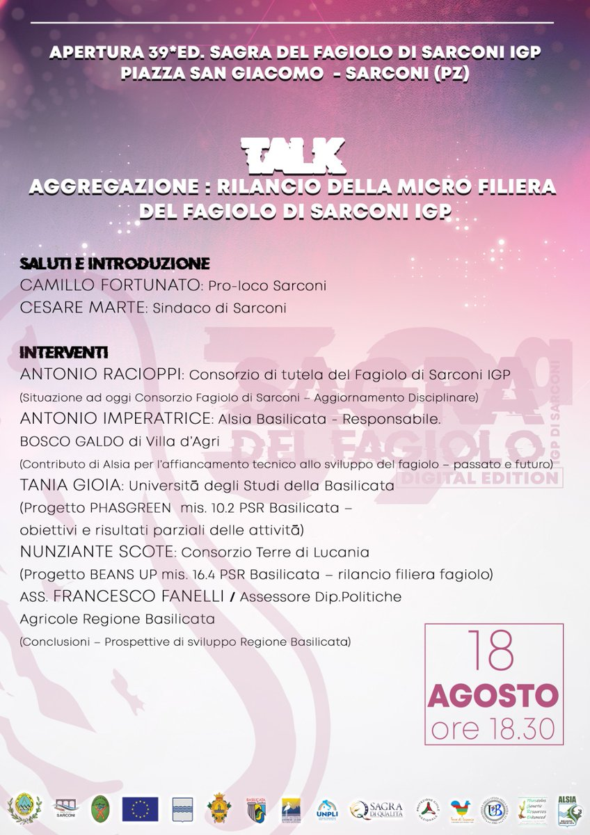 IL 18 agosto l'Alsia al talk di #Sarconi sul rilan...