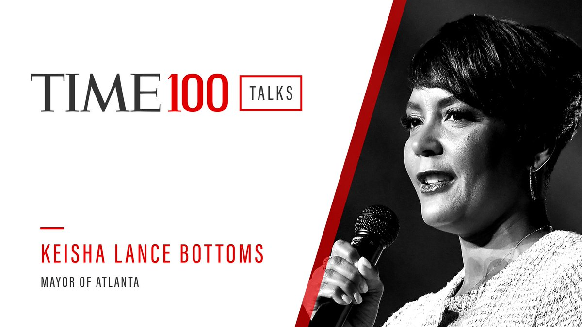 Mayor @KeishaBottoms will join @TIME at 1:00 p.m. today for a conversation about the future of education.   Register now: https://t.co/quKfrN7ttu #TIME100Talks https://t.co/h1nSSbzzJd