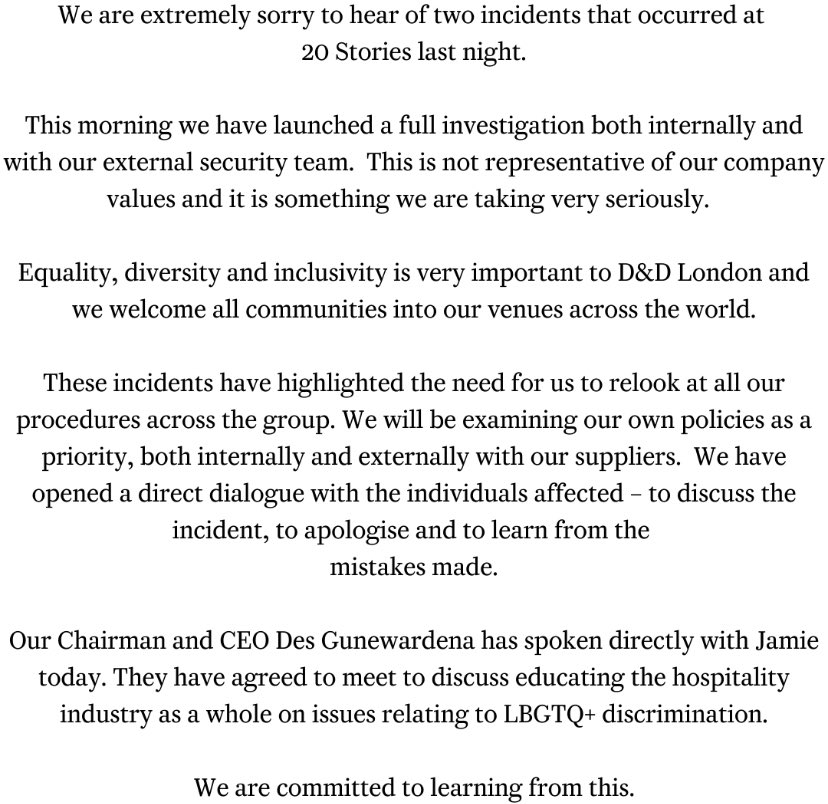 A statement from 20 Stories. https://t.co/MZ37PXQAR9