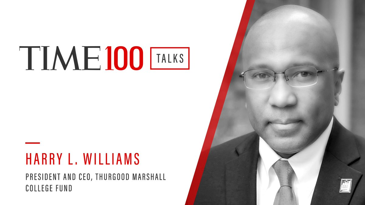 Join our CEO, Harry L. Williams, @TIME today at 1 pm EDT for #TIME100Talks! Register here: https://t.co/VEh8x4qNgD #HBCUs https://t.co/WRezj20tNC