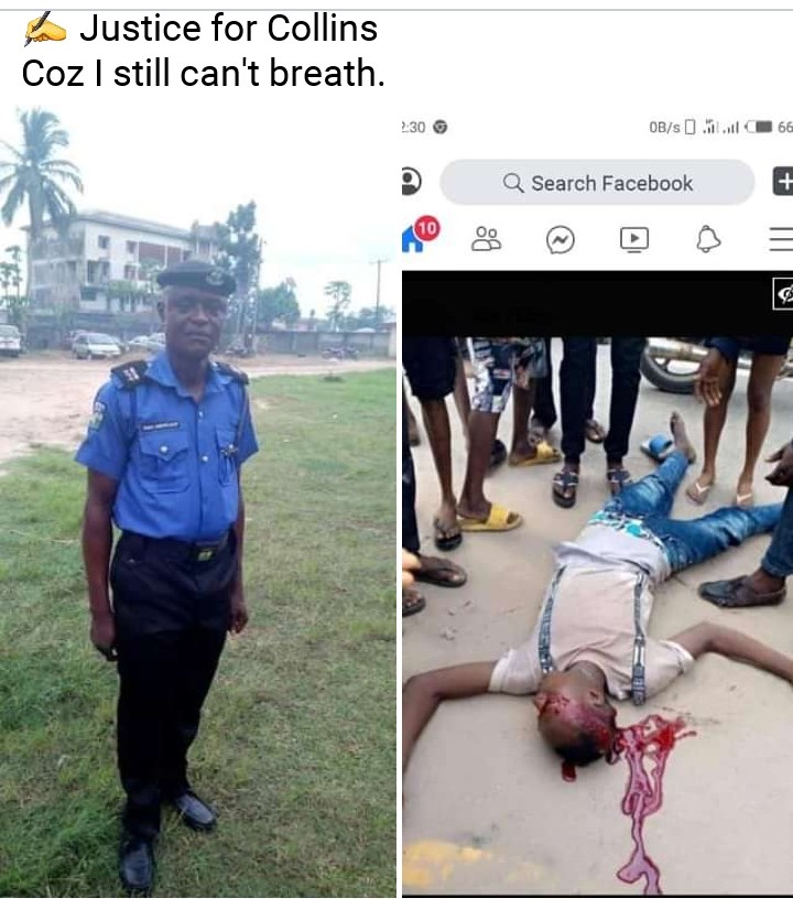 RT @henryzino: Gidi_Traffic  Behold the face of Inspector Isaac of the Devisional Police Ozoro, Delta State who allegedly shot one Collins Iki..... It would be nice if the authorities investigate this issue #GRAPHIC https://t.co/sZoKZ63Vaz
