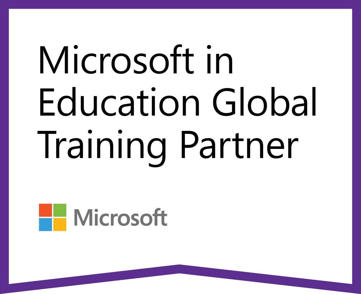 """Global Learning on Twitter: """"📣📣 Good news!! @Microsoft nos ha acreditado como su Socio Global de Capacitación #GlobalTrainerPartner para formar a profesionales de la #educación y capacitarlos en el uso de sus"""