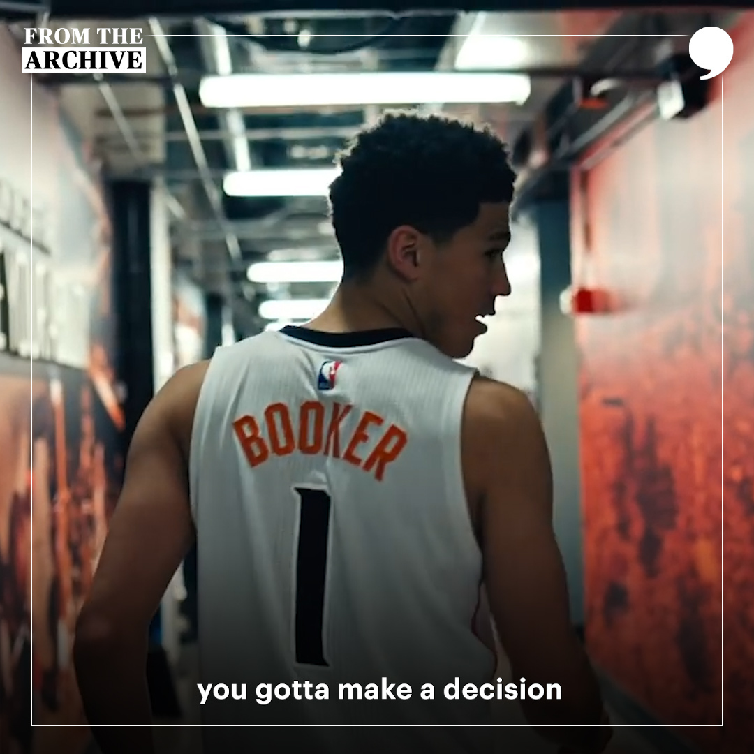 In 2016, @tysonchandler passed on these wise words to @DevinBook during the season finale of Rookie/Vet. The @Suns star took them to heart. #TPTArchive 🎥: playerstribu.ne/DevinBooker