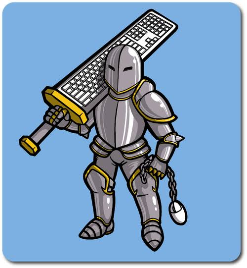Keyboard warrior Knights of the keyboard
