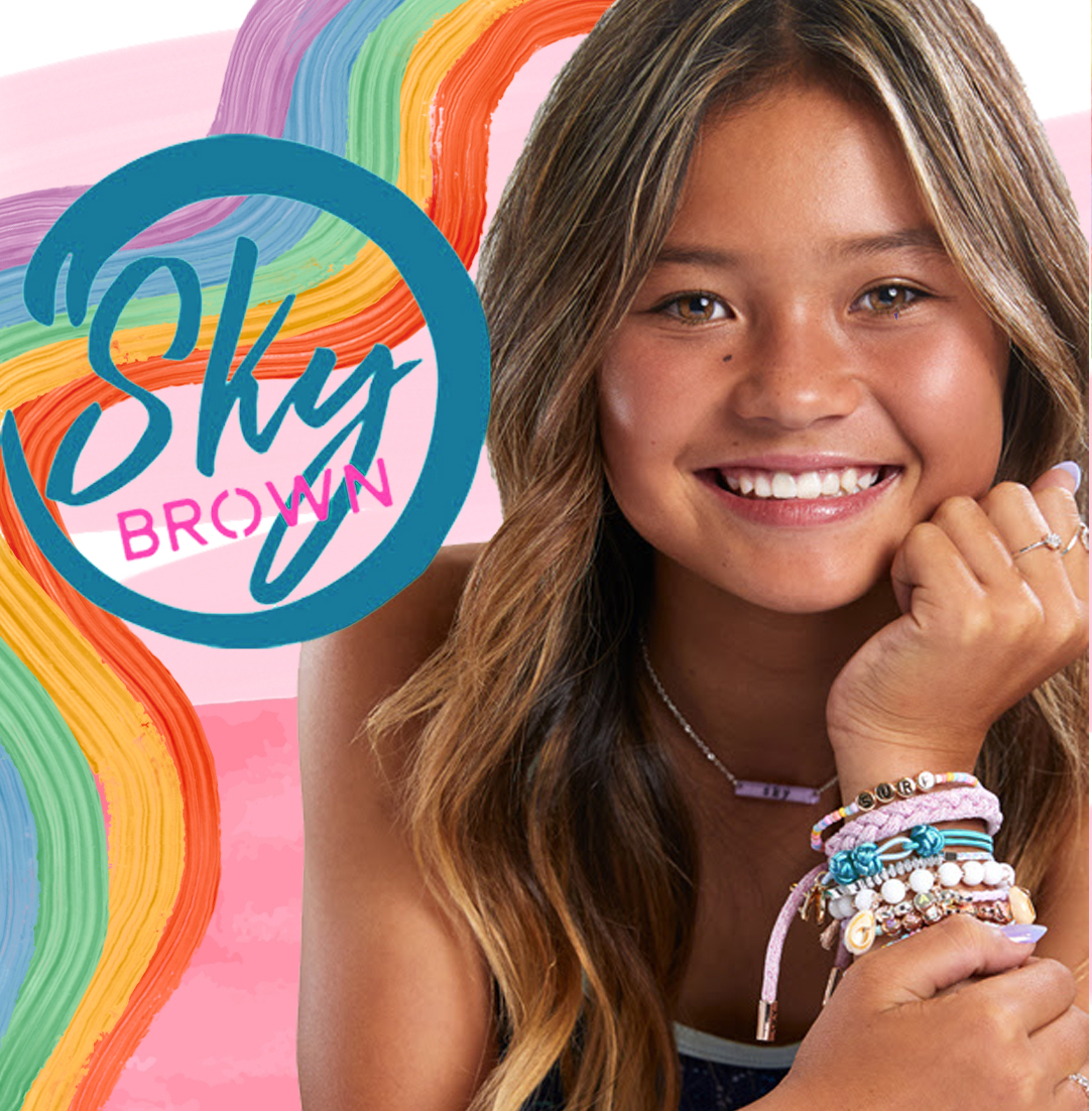 Olympian and professional skateboarder, Sky Brown, has teamed up with @Claires to bring you a brand new collection of vibrant and fun hair and jewelry accessories! Now available in North America, the UK, and online at claires.com. 🎀🛹 #ClairesLovesSkyBrown