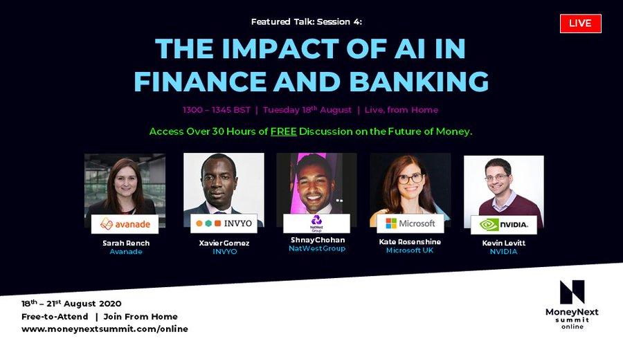 Honored to be invited as #speaker to @MoneynextSummit for @invyo_analytics bit.ly/3andOOM #AI #Banking #BigData #Finance #MoneyNext @SpirosMargaris @andi_staub @Visible_Banking @KirkDBorne @KirkDBorne @sallyeaves @ipfconline1 @ShiCooks @enricomolinari @psb_dc @Karunk