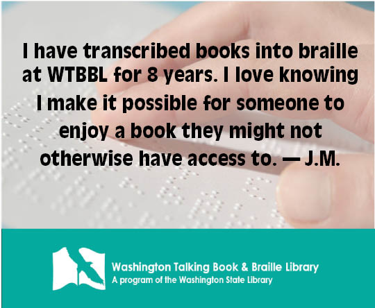 WTBBL is volunteer-powered, and we have gotten some nice words from them that we'll share with you in the coming days. #wtbbl #wastatelibrary #volunteer https://t.co/LseRHQM8Ll
