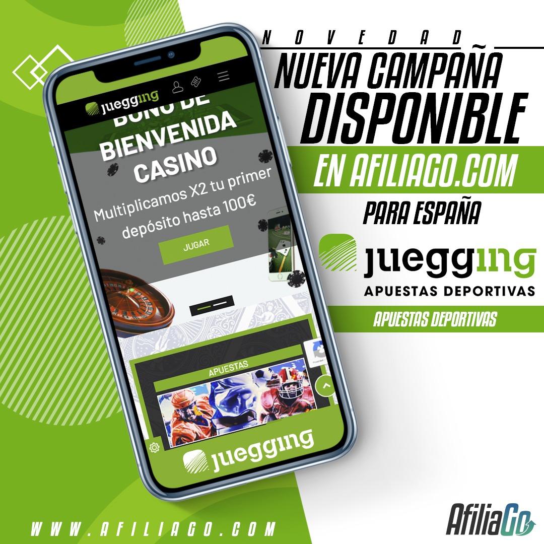 💥NUEVA CAMPAÑA DISPONIBLE💥 Llega Juegging a AfiliaGo ⚡️ campaña disponible para España #cpa #affiliates #afiliacion #affiliation https://t.co/MAFbmT6WD6
