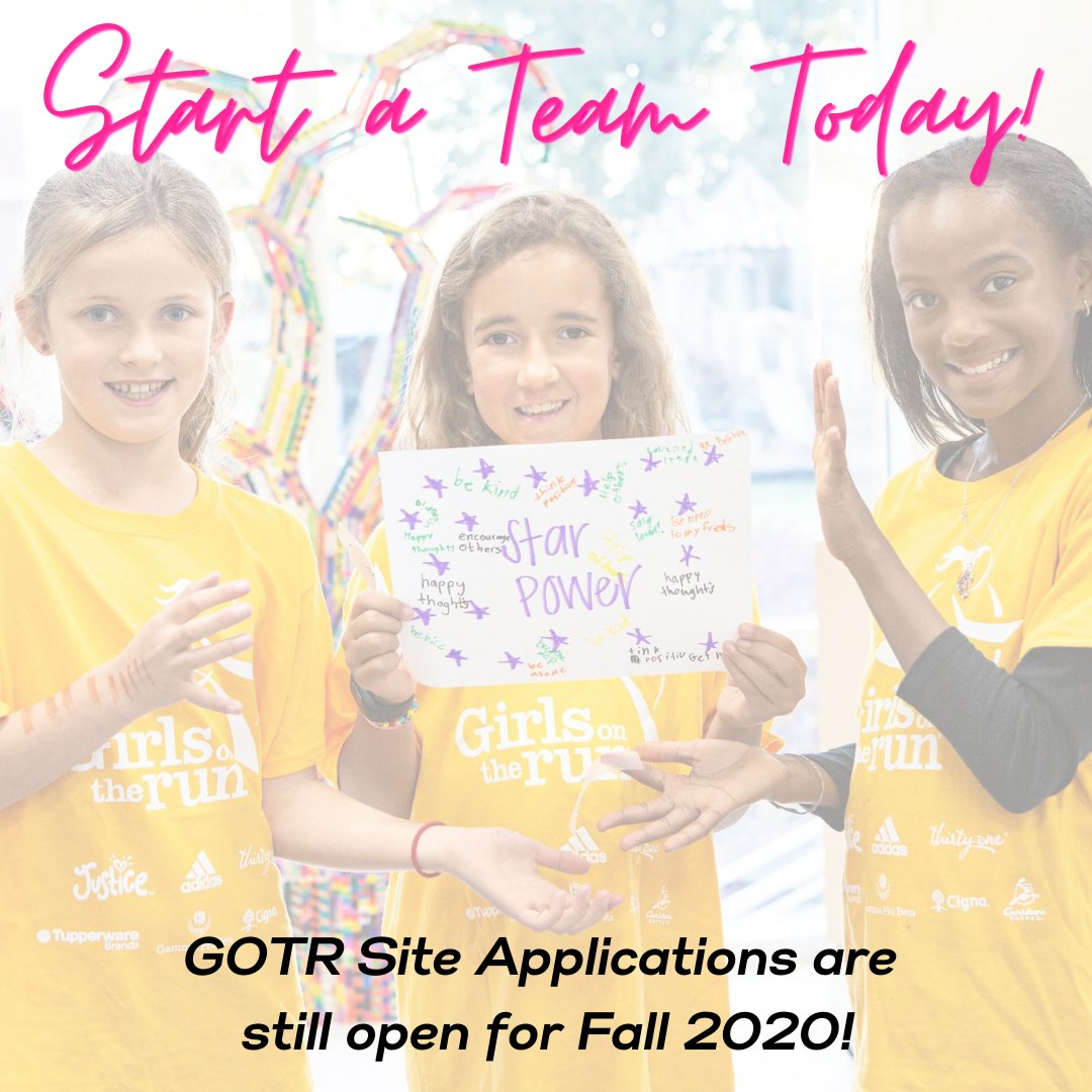 We still have room for sites to apply for the Fall 2020 Girls on the Run season! We are accepting applications for VIRTUAL ONLY and FLUID (mix of in-person and virtual) teams! 💛 *Learn more & apply: https://t.co/R01IOqYbLL #GOTRPugetSound #GOTR #Volunteer https://t.co/bb22yq6YlB