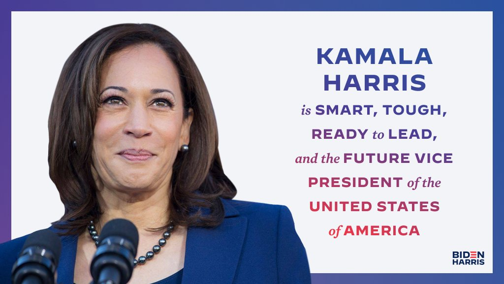 .@KamalaHarris is all of this and more — we can't wait to see her in the White House alongside @JoeBiden.