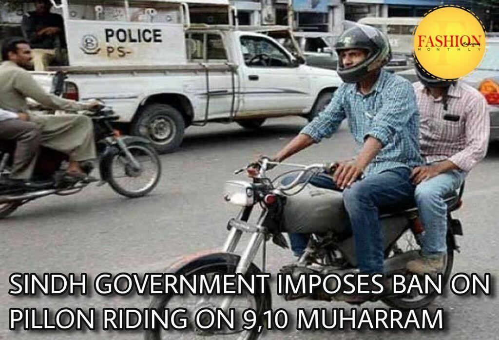 The Sindh government has banned pillion riding across the province on 9th and 10th Muharram as part of security. Notably, security forces personnel, journalists, the elderly, females and minors will be exempt from the pillion riding ban. . #fcmag #muhrra… https://t.co/bLLxr9Y8a3 https://t.co/v6hJyk9zle