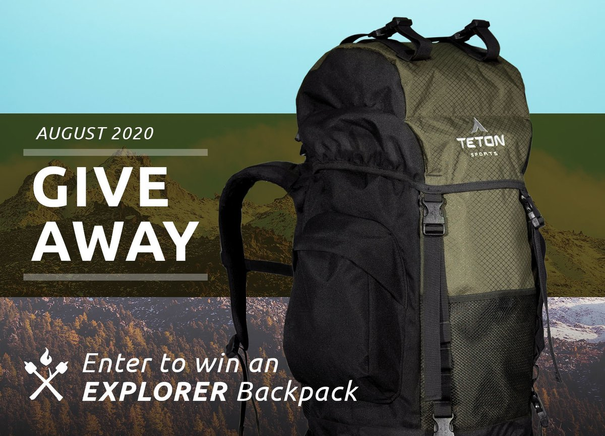 GIVEAWAY TIME! We're giving away a Explorer 4000 Hiking Backpack. To Enter:  1) Like it 2) Retweet it 3) Follow TETON Sports  #tetonsports #enjoylife #nature #outdoors #adventure #discover #exploremore #hiking #camping #mountains #wilderness #backpacking #hikerchat #giveaway