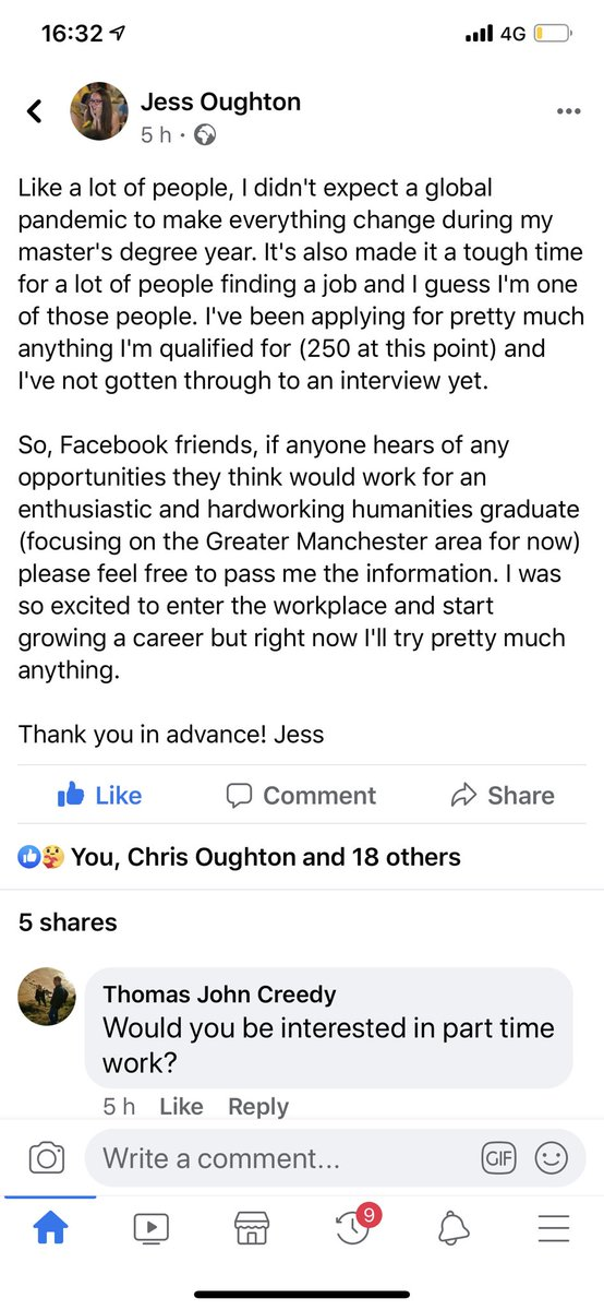 Hello Twitter , can anyone help or please RT? My eldest step daughter has just finished her Masters degree from Durham and is desperately looking for a job in #GreaterManchester #humanities #graduate #jobopportunity #asktwitter https://t.co/tGf8AoeqqO