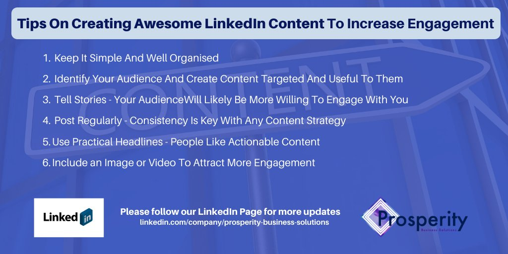 SIX tips that may help you create awesome #LinkedIn #content that helps increase engagement.