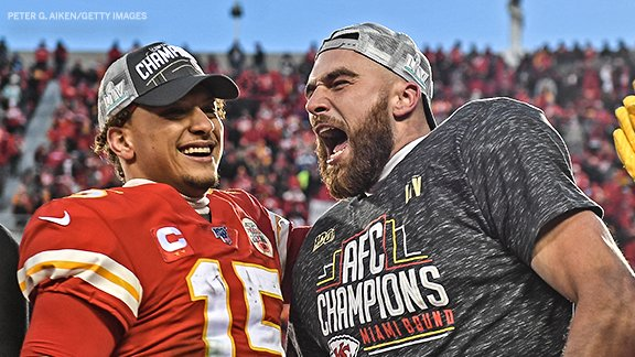 .@PatrickMahomes x @tkelce Together for six more seasons 👏