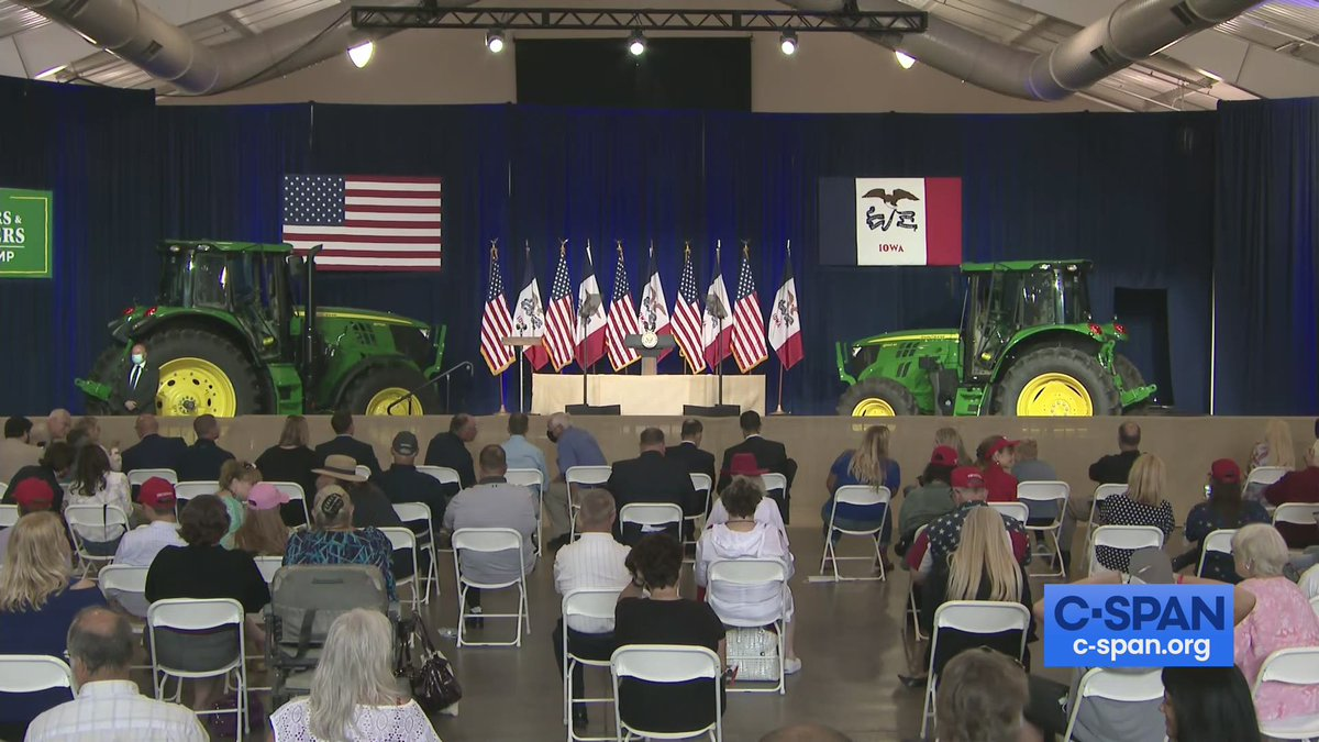 """.@VP Pence speaks at """"Farmers & Ranchers for Trump"""" campaign event in Des Moines, IA - LIVE shortly on C-SPAN cs.pn/30TquKb"""