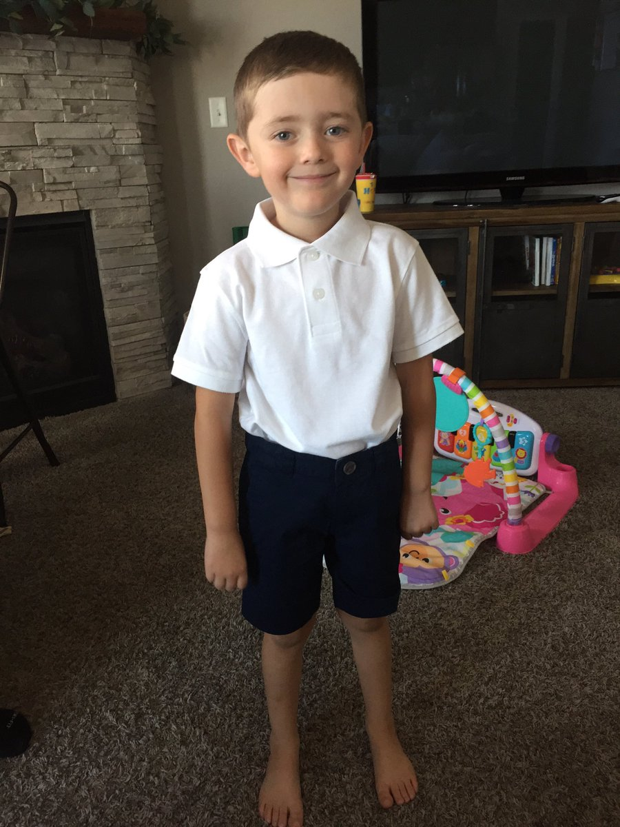 Tomorrow is the first day of kindergarten for my beloved Little Henry. Slow down, my man. #schooluniform