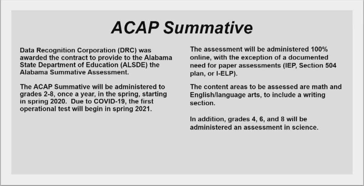 ACAP Updates #ALBOE