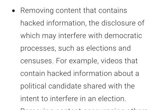 유튜브가 해킹을 통해 얻어진 정보와 관련된 영상을 더이상 허용하지 않는다고 발표. 예를들어 위키리크스 같이 적법하지 않은 경로로 수집된 정보를 다룬 영상을 허용하지 않는다는 것인데,그 범위가 유출된 아이폰 차기 모델 정보같은 것에도 적용이 될 것인지 두고봐야