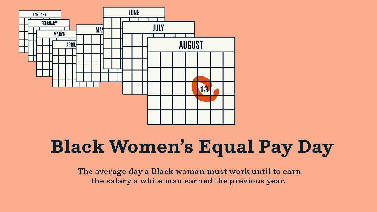 Today is #BlackWomensEqualPayDay — the average day a Black woman must work until to earn the salary a white man earned in the previous year. Democrats will keep fighting to close racial and gender pay gaps and ensure pay equity.