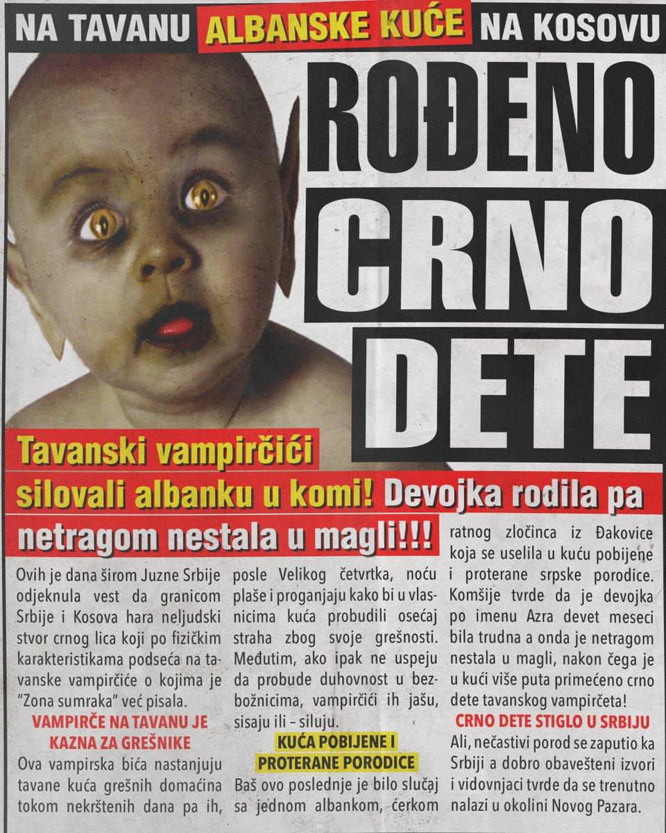 Rođeno crno dete – tavansko vampirče! (FOTO)