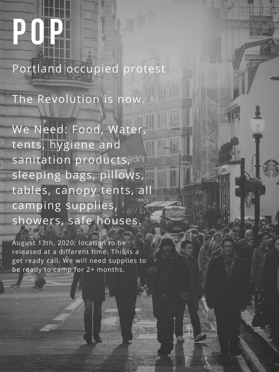 """""""The revolution is now.""""  #Antifa are planning some type of autonomous zone occupation in Portland. They haven't announced a location yet but likely contender is Lownsdale square, the park by the federal courthouse they've been using as operations base to launch attacks. https://t.co/hR6zgzzuoK"""