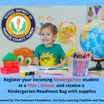 Image for the Tweet beginning: Parents, register your incoming Kindergarten