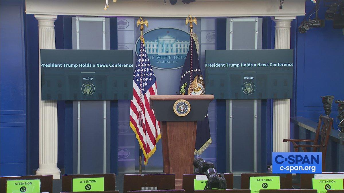 President Trump News Conference - LIVE at 5:15pm ET on C-SPAN cs.pn/33Z5QdM
