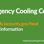 Image for the Tweet beginning: Emergency Cooling Centers will open