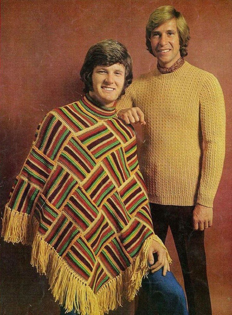That is the satisfied smile of a man who knows he's just thrown down the goddamn poncho gauntlet.