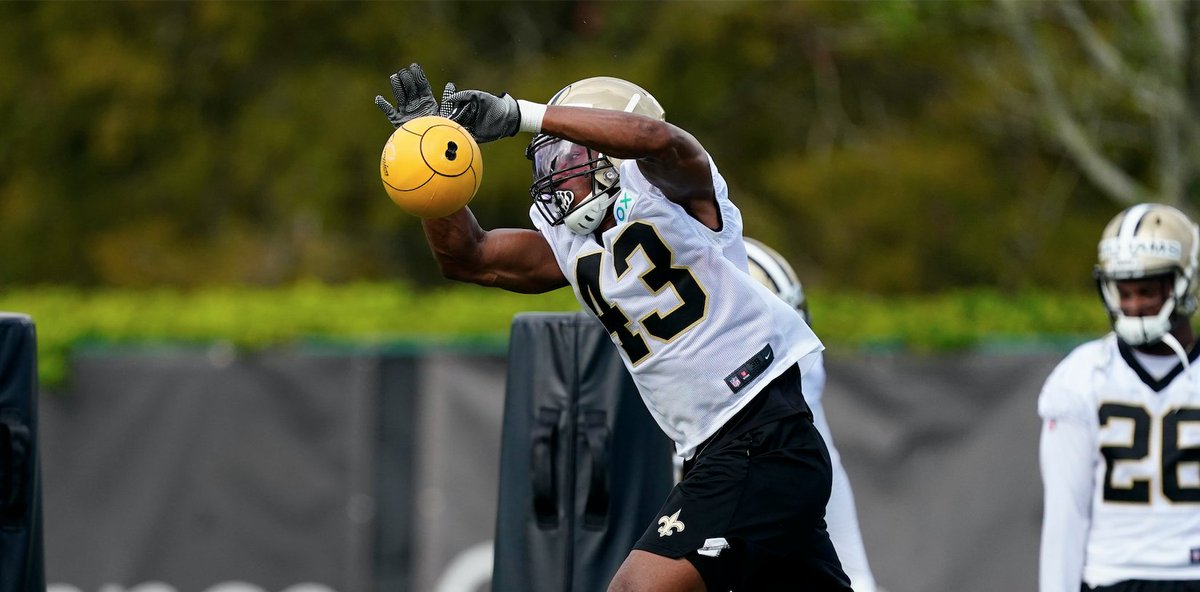 Catching up with safety Marcus Williams! ⚜️ WATCH: neworlns.co/Marcus #Saints | @MicrosoftTeams