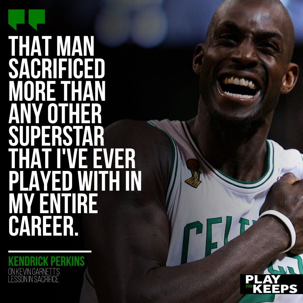 The biggest lesson that @KendrickPerkins learned from @KevinGarnett5KG helped cement his name as a champion forever — but how was the Summer 2007 trade initially received? 👀  Hear his entire story in this week's @PlayForKeepsPod! Subscribe for more: https://t.co/VmTiENOotu https://t.co/F5cWwraCTa