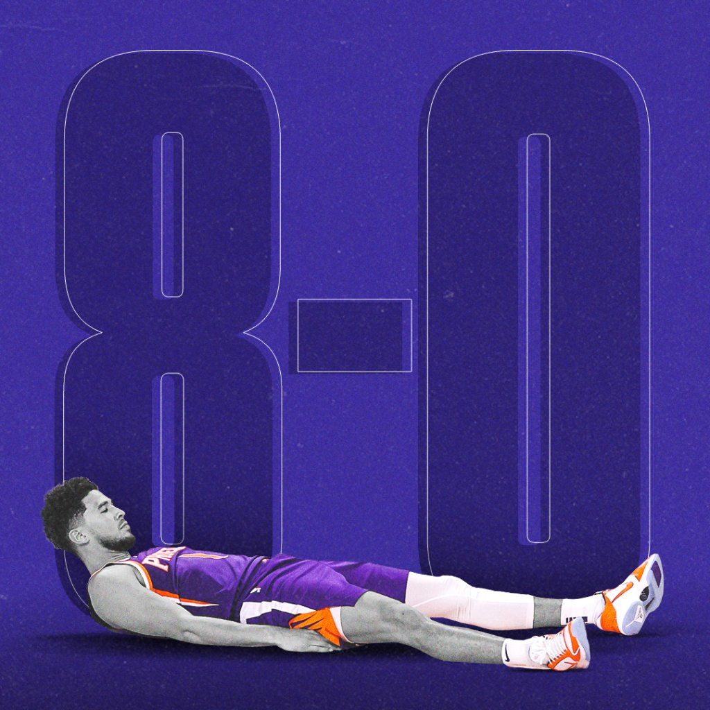 Perfect 8-0 in the bubble for the Suns.   Unreal. https://t.co/uxsI7Yy6kr