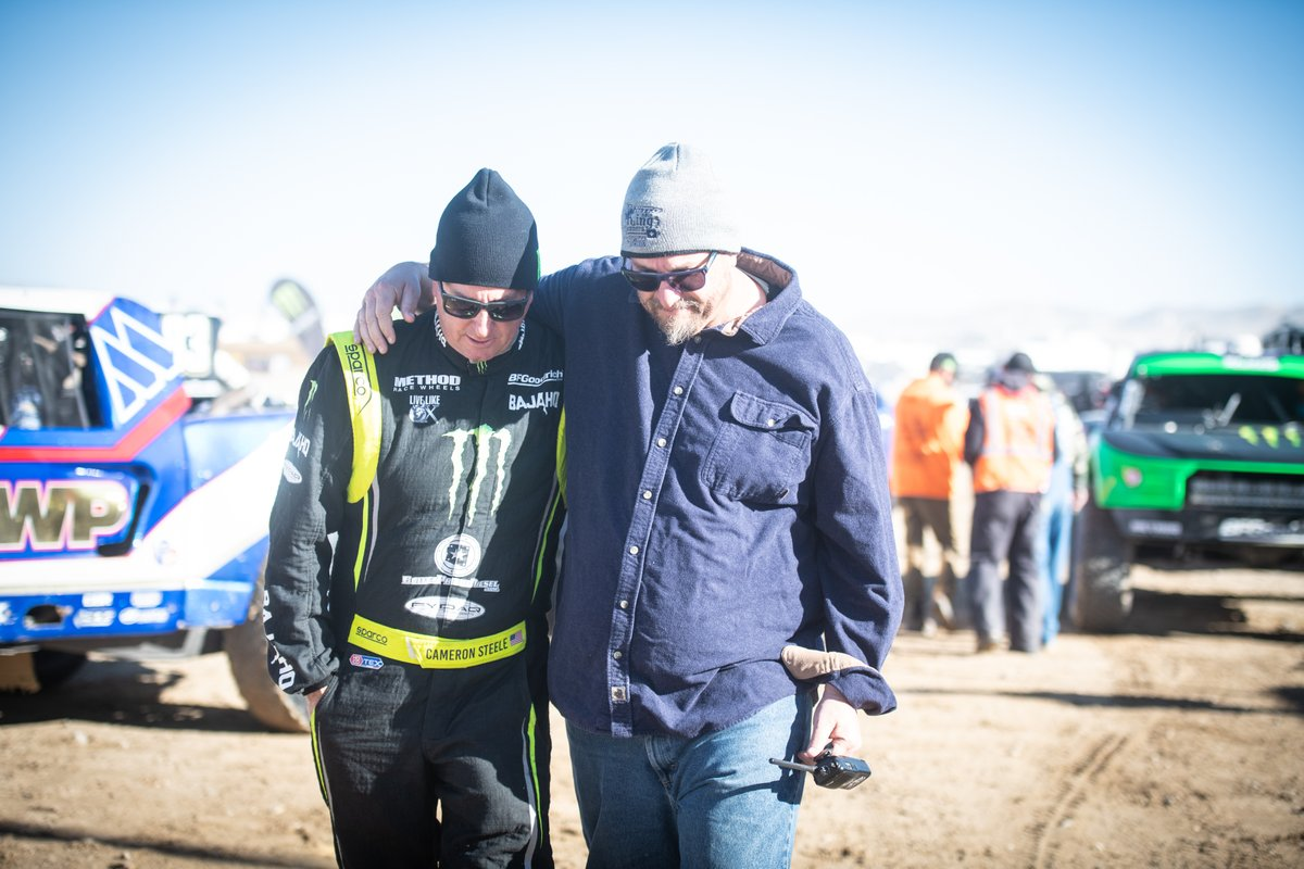 Now Cameron... listen to me... 2nd place is just first loser. Dont screw this up buddy. Congrats to @MonsterEnergy driver Cameron Steele taking the pole at the BITD V2R race this weekend. Best of luck to all competitors. #BackOnCourse #BITD #V2R PC: Nicole Dreon