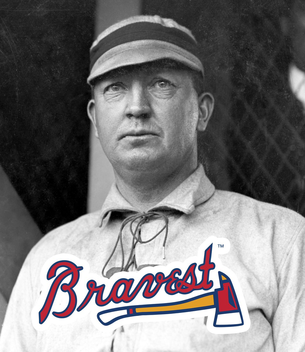 #OTD in 1911, the Boston #Bravest won a slugfest over the Dodgers 13-9. While this good looking chap didn't play that game, he WAS in the process of finishing up his final season of pro baseball. Who knows who he is?  HINT: He's kind of a big deal to pitchers.  #bravestatl https://t.co/PKunFwEZ7g
