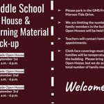 Image for the Tweet beginning: Galax Middle School Open House