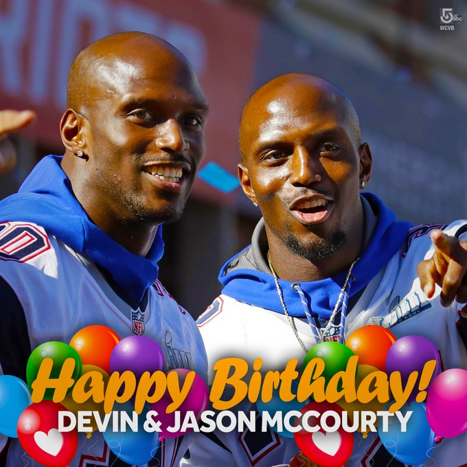 Happy Birthday to the Devin & Jason McCourty -- the Patriots twins -- who turn 33-years-old today!