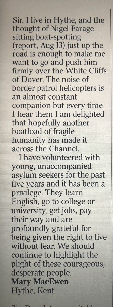 Mary from Kent in today's Times 👏