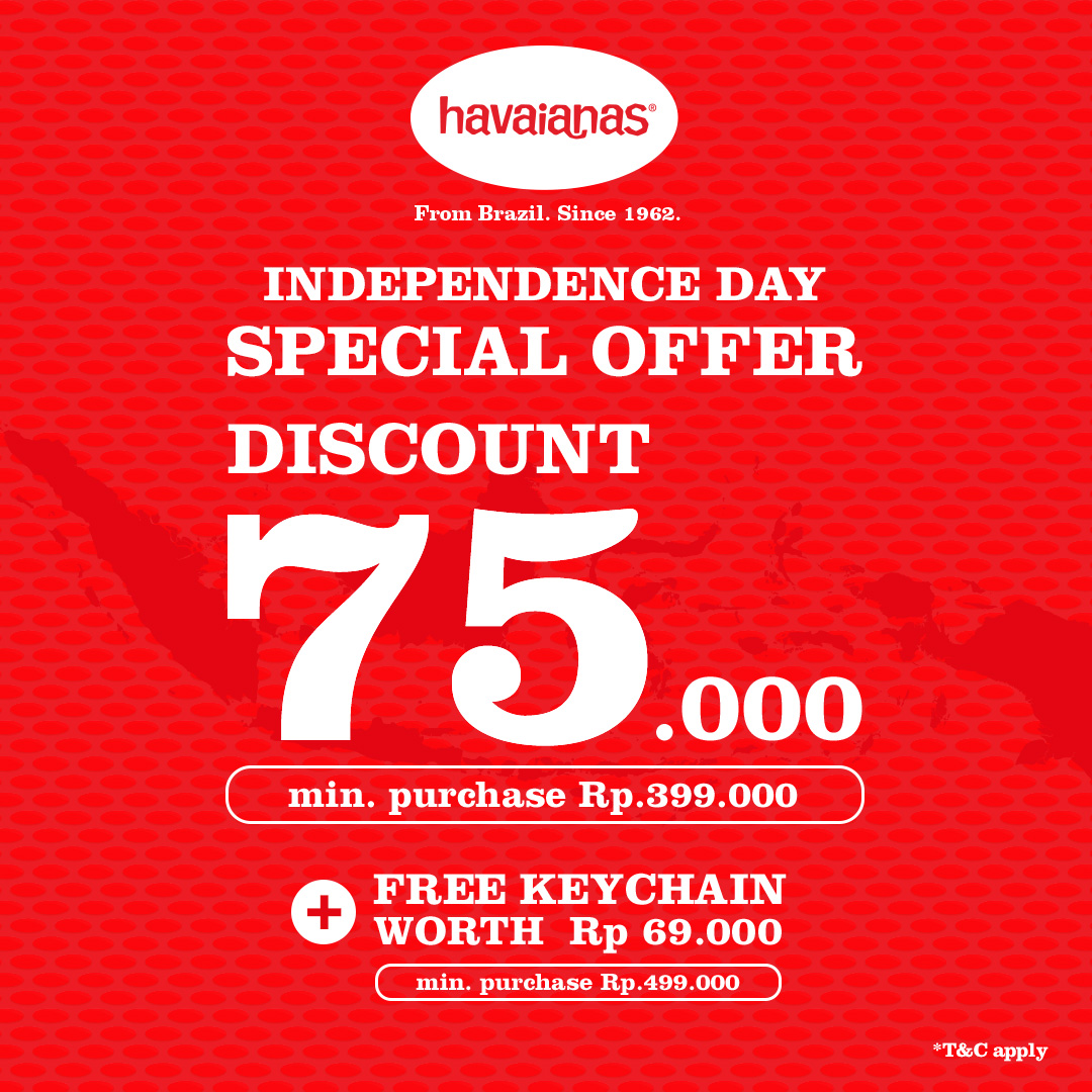 Grand Indonesia On Twitter Be Bold And Ready In Red Enjoy Independence Day Special Offer Disc Up To Idr 75 000 At Havaianasid West Mall Level 2 Or Shop From Home