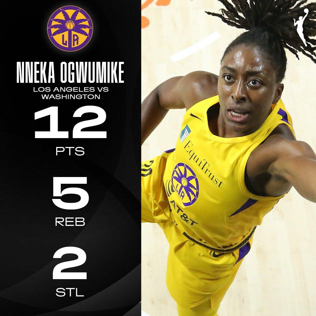 .@Nnemkadi30 did a little bit of everything leading the @LASparks to victory. #WNBA   #BradentonArea https://t.co/TVkQToAZ7x