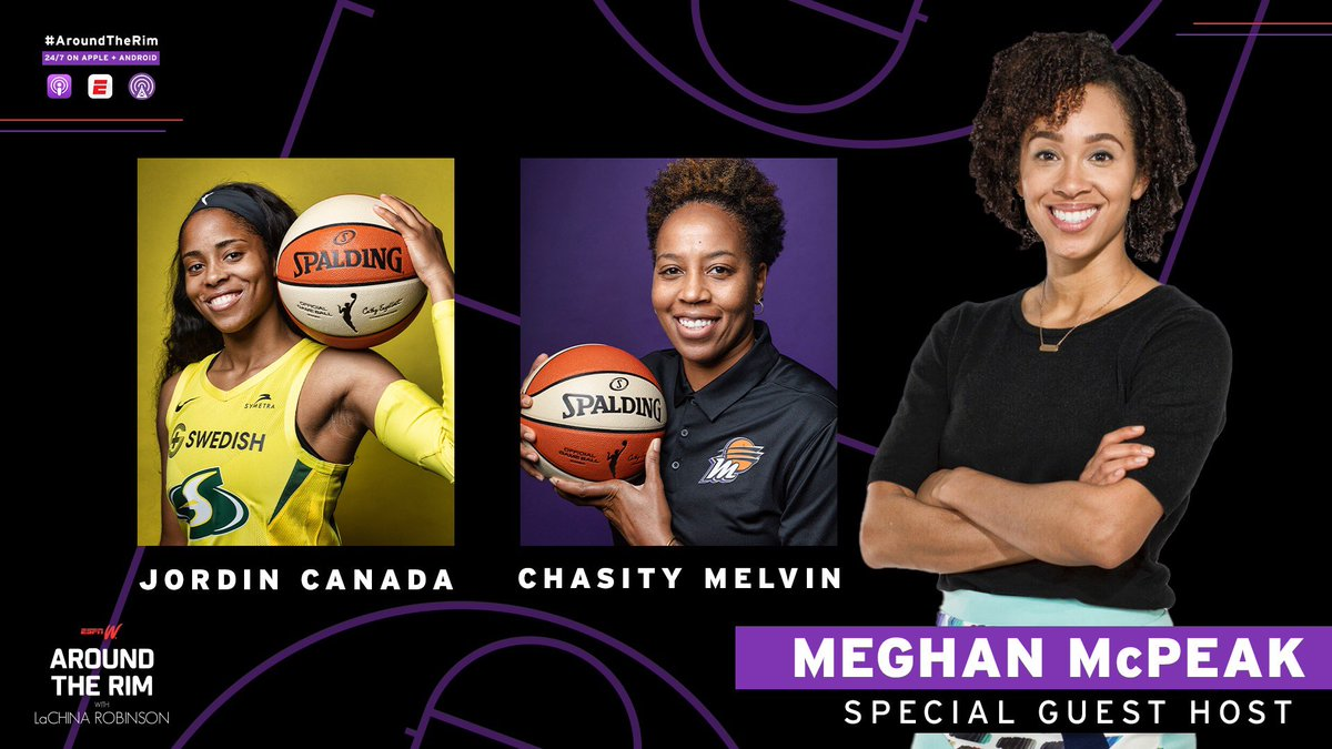 NEW #AroundTheRim:  Guest host @meghanmcpeak, the first and only female PXP announcer in the NBA G-League, discusses the Mystics' 5-game skid, teams that impress her the most & more!  Plus, @jordin_canada and @chasitymelvin join from the WNBA Bubble 🔥  ➡️ https://t.co/aQB4lbpfxi https://t.co/exW3qP70s5