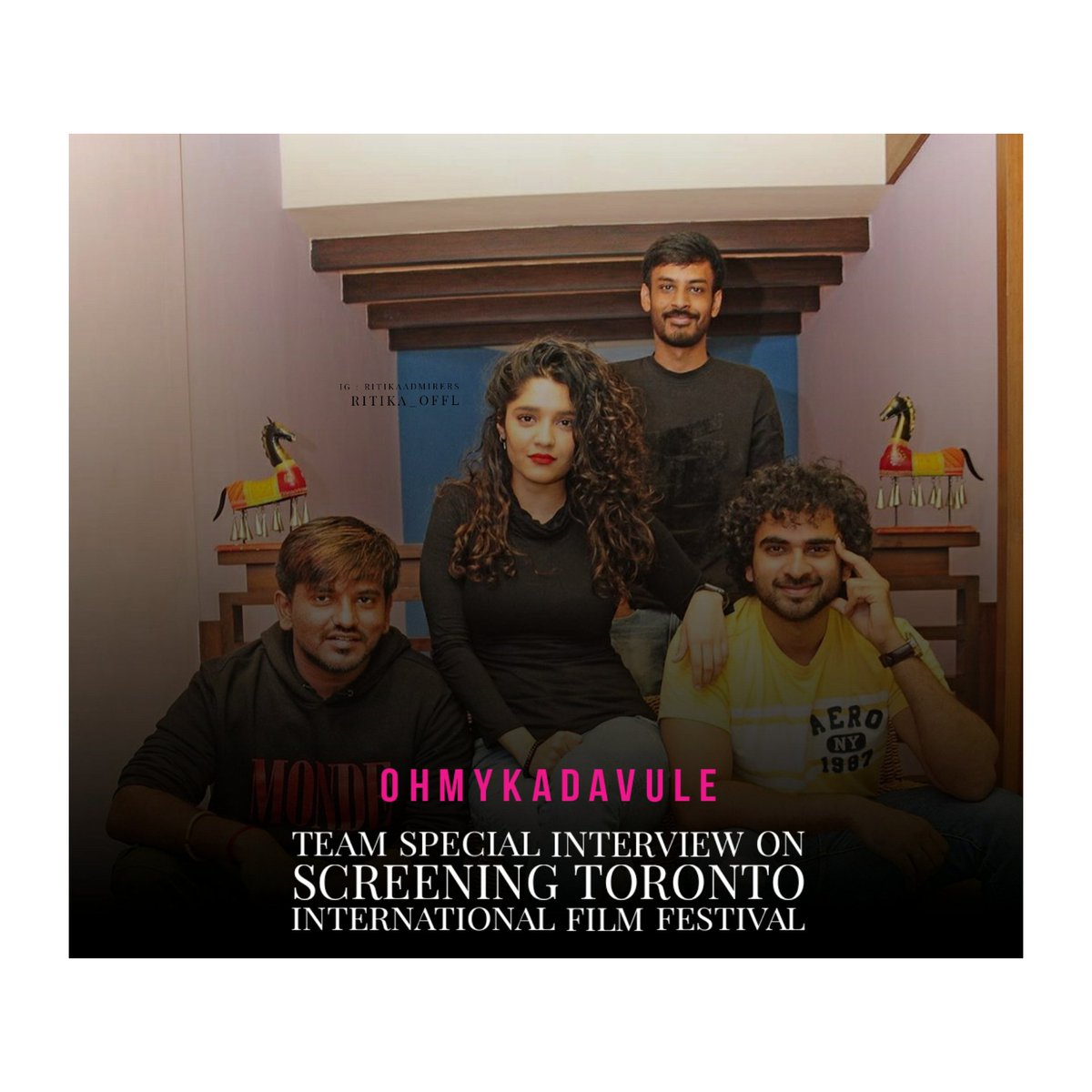 #OhMyKadavule screening today Aug 14th at 7 pm in Toronto film festival, Best wishes to @ritika_offl and cast & crew of the movie. Also, we have a special interview with @Dir_Ashwath @ashokselvan & @leon_james Have a fantastic day.  . . . #Ritikasingh #WeLoveRitikasingh https://t.co/hzuVVq4Wr0