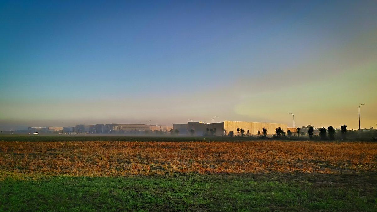 Foggy Sunrise on Industrial Units.   #sky #nature #naturalLandscape #field #atmosphericPhenomenon #horizon #plain #cloud #morning #evening #farm #ruralArea #sunset #grass #sunrise #grassland #sunlight #ecoregion #prairie #tree #grassFamily #atmosphere #meadow #landscape https://t.co/yUgTQ1BDjD
