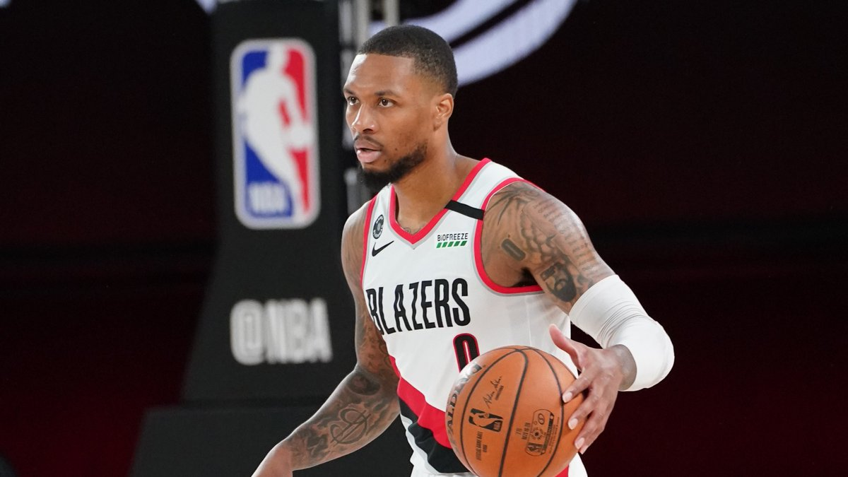 Damian Lillard scored 154 points in his final 3 seeding games 🔥  42 PTS, 8 3PM, 12 AST, 68.6 FPTS 61 PTS, 9 3PM, 8 AST, 79 FPTS 51 PTS, 4 3PM, 7 AST, 65.1 FPTS https://t.co/HWtYzjTJay
