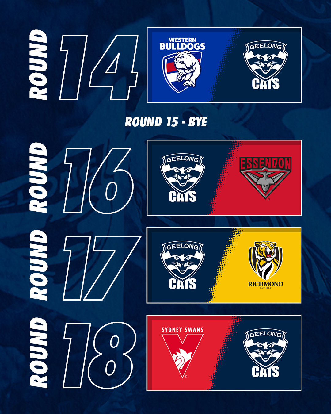 Geelong Cats On Twitter The Final Pieces Of Our 2020 Puzzle Are In Place Fixture Presented By Gmhba Read Https T Co Jq9e6mmzh8