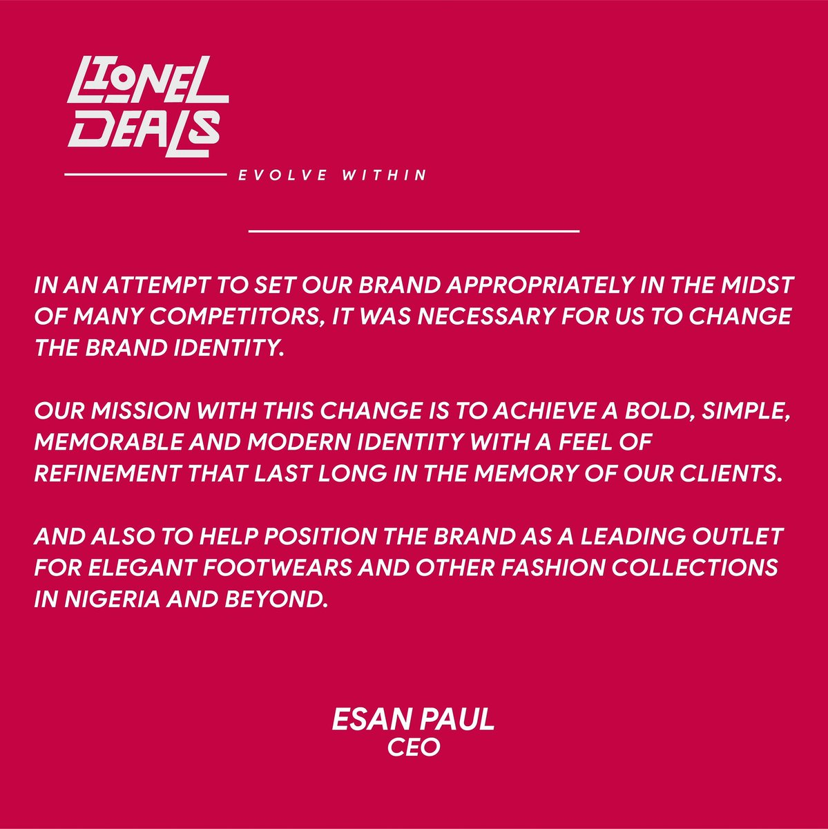 KINDLY READ THROUGH   After setting out to work on the brand's strategy, goals, mission and vision statement, I reached a conclusion that the old identity design had to go.  #onlineshopping #shoes #ShoesSale #shoelover #branding #brandidentitypic.twitter.com/9kfM5250pV