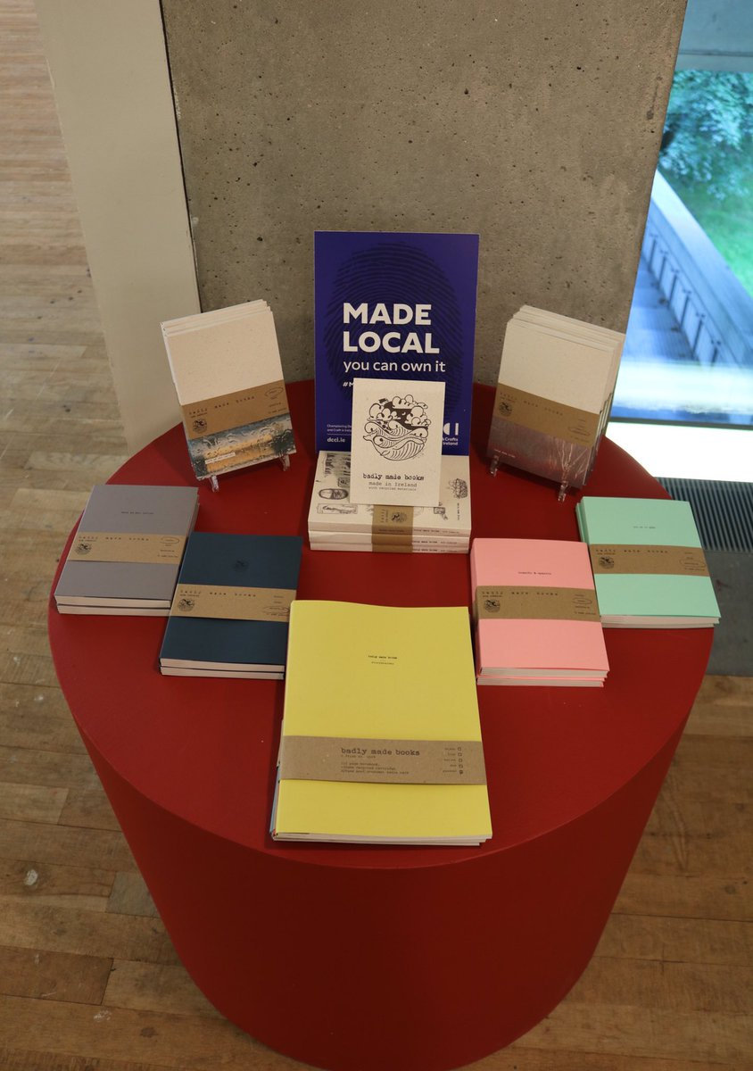Check out these wonderful new books made from recycled materials by our #DesignerOfTheWeek Badly Made Books! Better yet, they're #MadeLocal too! Browse these in our gallery shop or on online at https://t.co/YRao4Dj6gc. https://t.co/bYlDzzEG4v