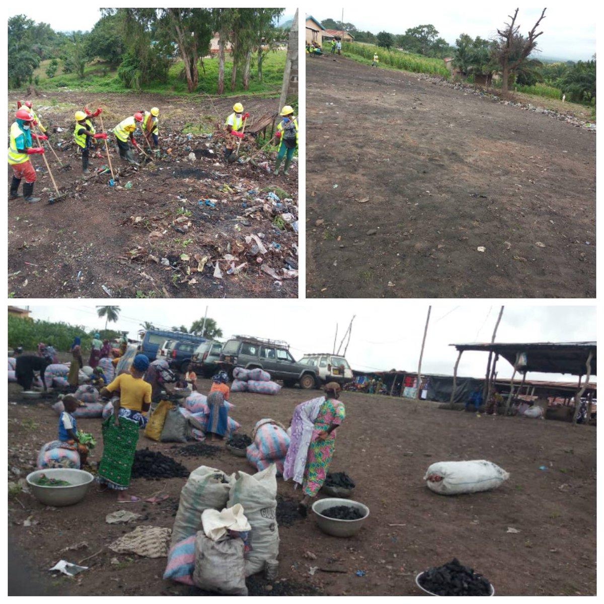 Les VEC ont détruit un dépotoir sauvage qui se trouvait près du marché d'aléheridè, du 10 au 11 août.  Sur cet espace, est installé désormais la station des taxis et les commerçantes du charbon de bois.  #VEC #JeMengage #CRVCentrale #ANVT https://t.co/gGCZTGoZT1