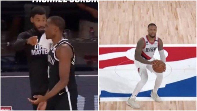 【影片】籃網老將指揮隊友:Lillard要投超遠三分了,就算放掉喬丹也去包夾他!