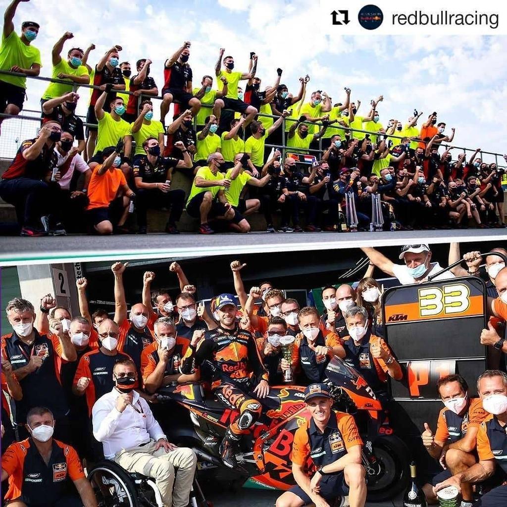 #Repost @redbullracing (@get_repost) ・・・ A good day to be no.3️⃣3️⃣ and in the #RedBullFamily eh @redbullmotorsports? 🏆🏆  🏎 @maxverstappen1  🏍 @bradbinder   #AstonMartinRedBullRacing #RedBull #givesyouwings #F1 #Formula1 #FormulaOne #MotoGP #MaxVerstappen #BradBinder https://t.co/ZTi9sY22JF